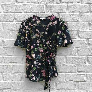 MONTEAU floral blouse